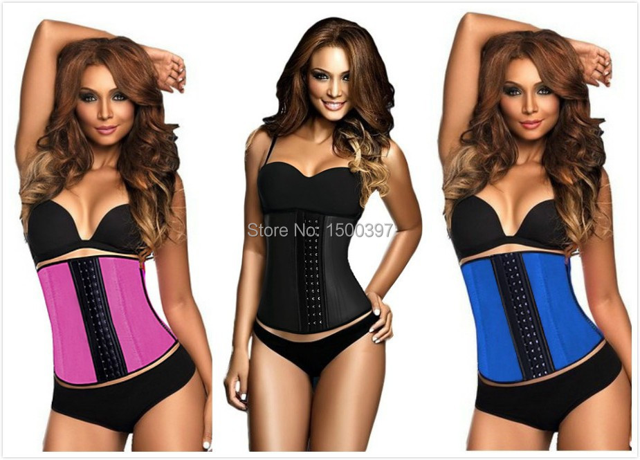 corset latex waist cincher trainer training corsets corselet corpetes e espartilhos corpete - iGoodBuy store