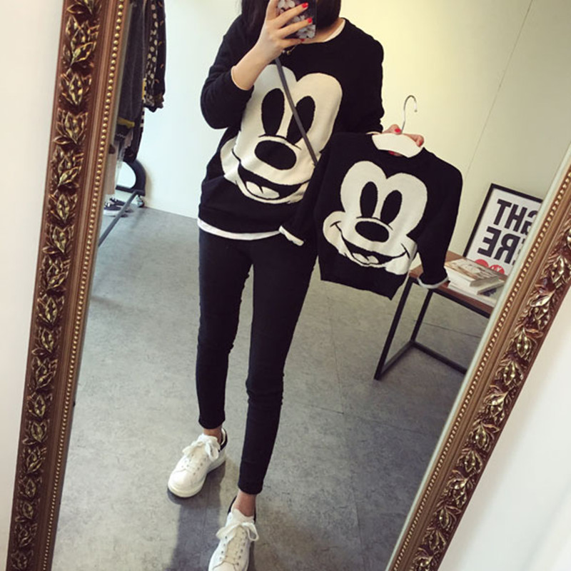 font b Family b font Clothing Sets Mother and Daughter casual cartoon set mother daughter
