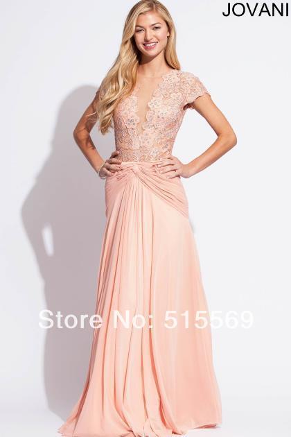 Abendkleider lang mit armel rosa