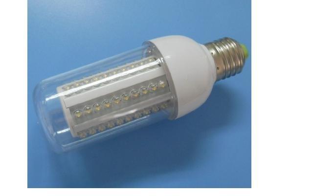 led corn light;E27 base;60pcs 5mm led;5500-6000K,cold white