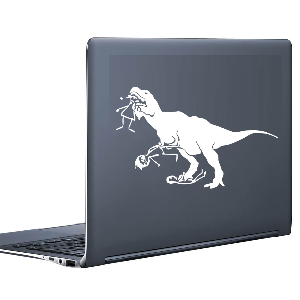 Man-Eating Dinosaur Stickers For Computer Decorative Vinyl Wall Art Stickers Adhesive Removable Notebook Decals(China (Mainland))