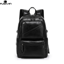Fashion Brand leather men backpack new high quality man's backpack large capacity men travel bag duffel bag laptop backpack(China (Mainland))