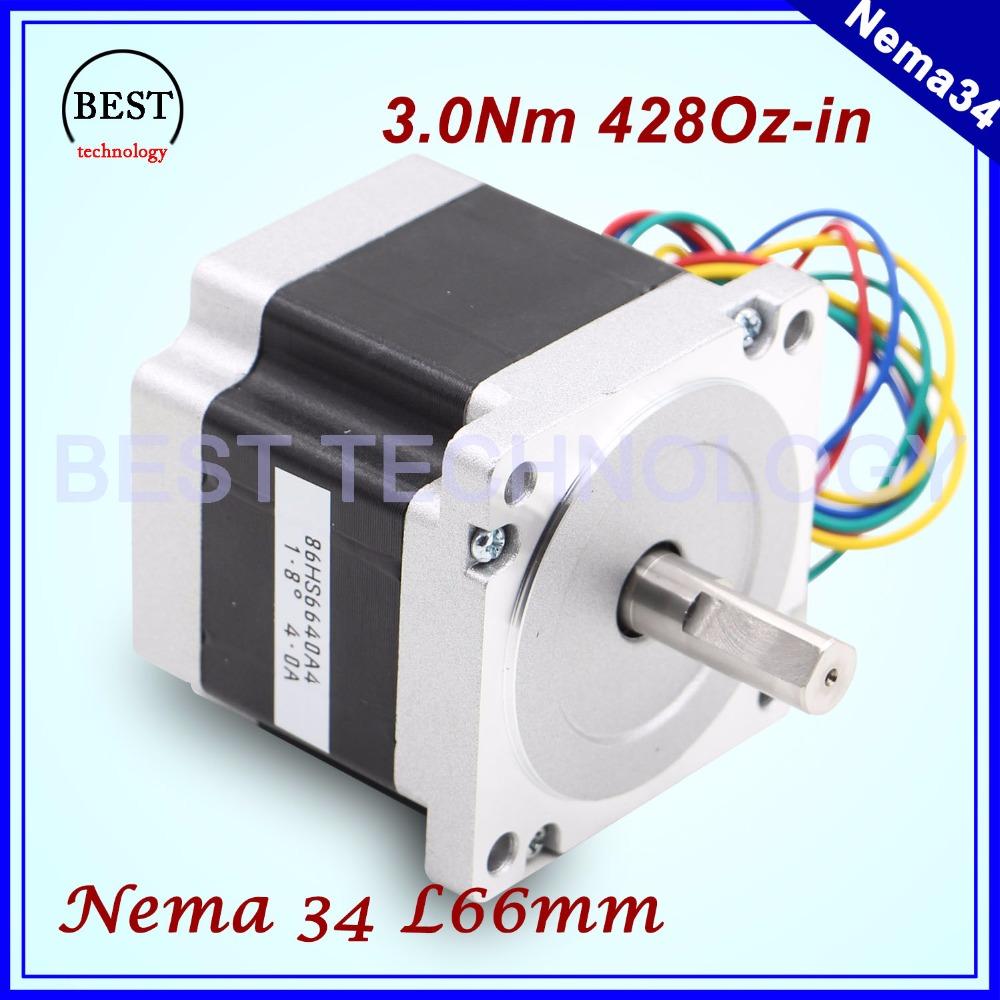 Buy Nema 34 Cnc Stepper Motor 86x66mm 3 N