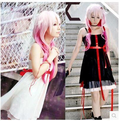 Japanese anime sexy Guilty Crown cosplay Yuzuriha Inori cosplay costume dress for gril women clothing(China (Mainland))