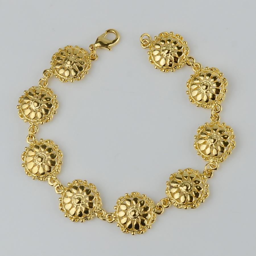 20cm Length 1.5cm Wide/ Ethiopian Bracelet Women 22K Gold Plated Fashion Africa Jewelry Hand Chain Ethiopia/Arabic Bangle NEW(China (Mainland))