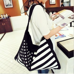 Free shipment 2013 spring and summer fashion women bag casual all-match flag canvas bag one shoulder women's handbag