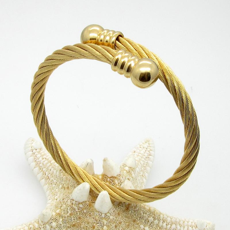 High Quality New Fashion Bracelet Bangle Jewelry Stainless Steel Wire Armoured Cuff Bracelets For Women Bracelet Jewelry(China (Mainland))