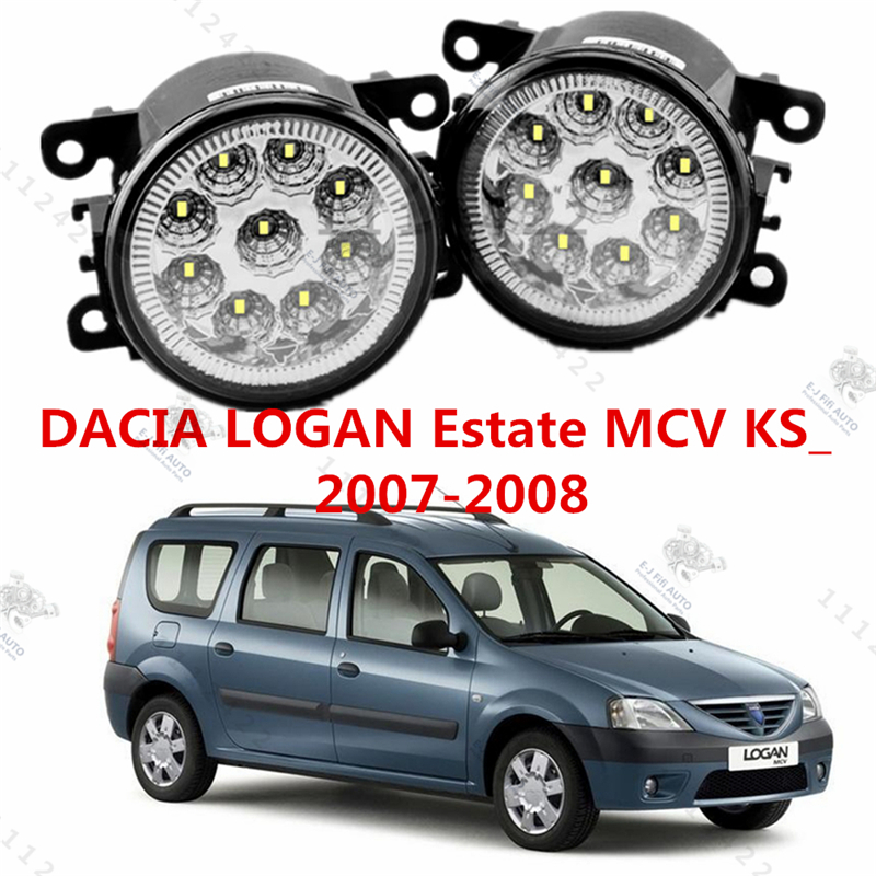 for DACIA LOGAN MCV (KS) 2007-2015 automotive styling. modified front bumper LED fog. The fog .LED daytime running lights 1 set<br><br>Aliexpress