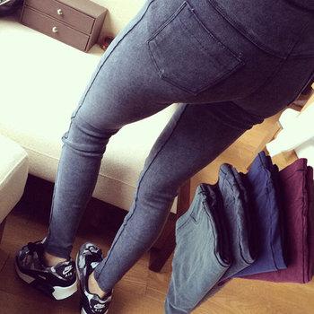 Новый Хиты 2014 продажи весна осень мода омывается джинсовой карандаш брюки стройный ...