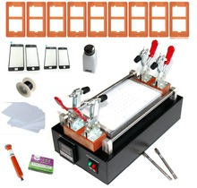 Free shipping mobile phone built-in vacuum glass LCD screen separator up to 7 inches + mold + UV glue + line + clean cloth