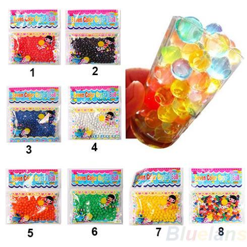 Гаджет  10bag/lot Pearl shaped Crystal Soil Water Beads Mud Grow Magic Jelly balls wedding Home Decor None Дом и Сад
