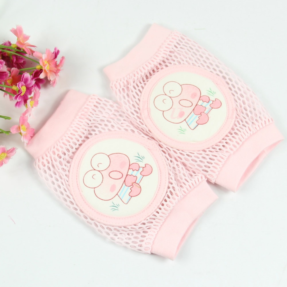 A96 Free Shipping 1pair Baby Toddler Safety Knee Pad Short Kneepad Crawling Protective Breathable