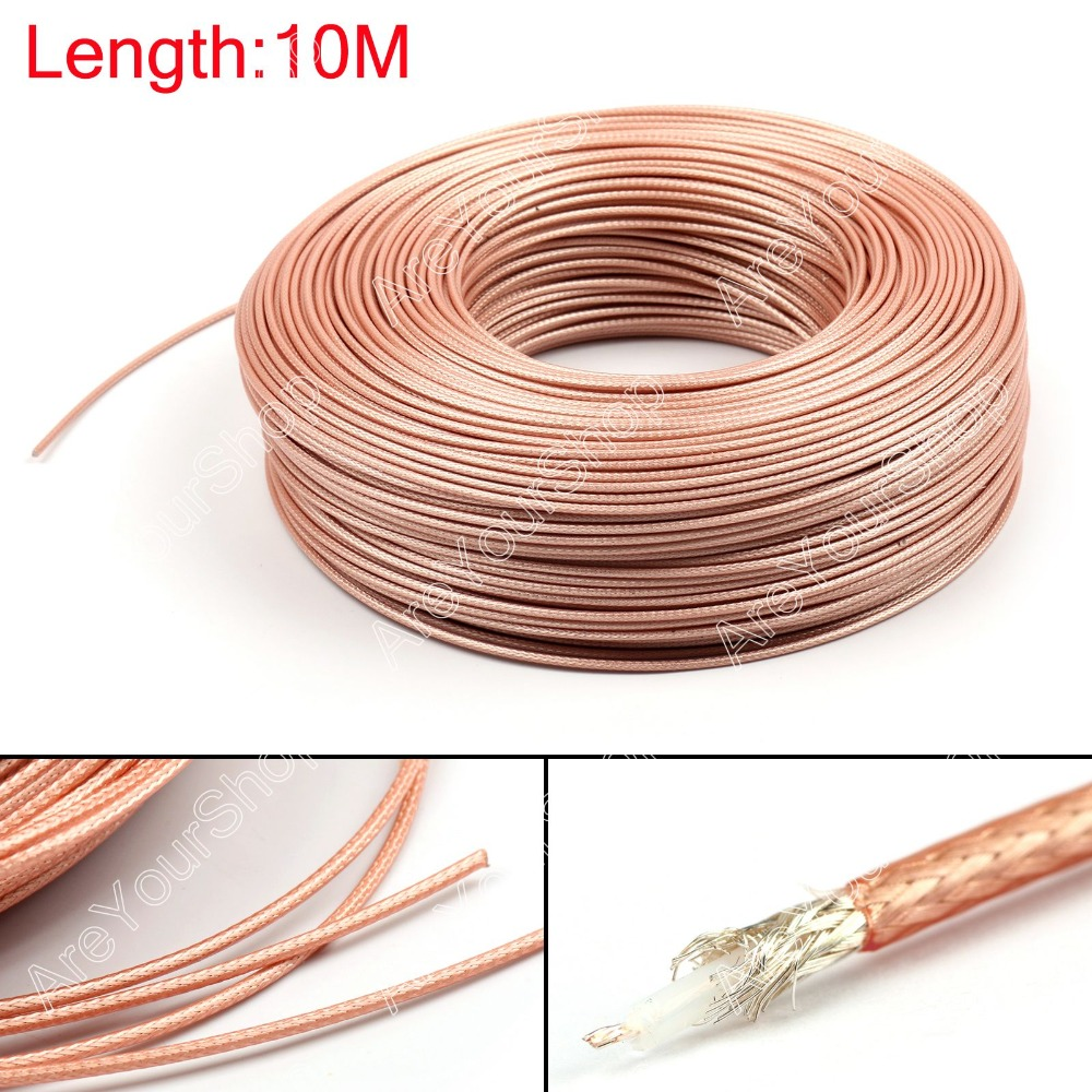 Sale 1000CM RG179 RF Coaxial Cable Connector 50ohm M17/94 RG-179 Coax Pigtail 32ft High Quality Plug Jack Adapter Wire Connector<br><br>Aliexpress