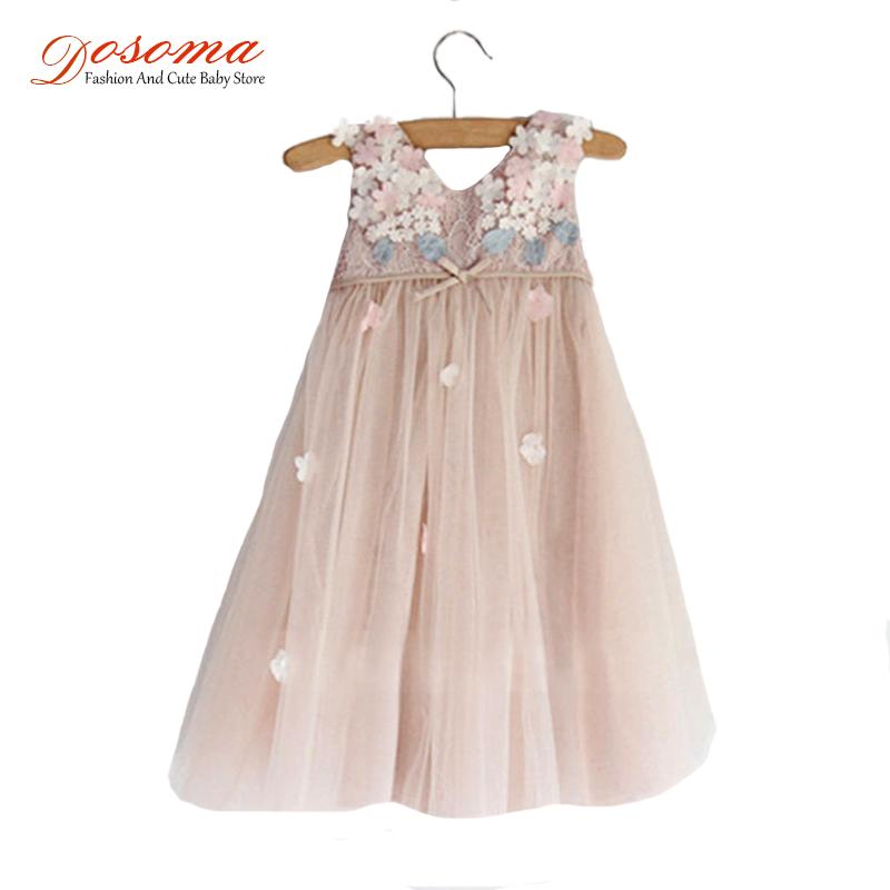 Sleeveless Petal Princess summer style flower ball gowns wedding girl dress kids floral TUTU Party dress 2015 baby kids clothes<br><br>Aliexpress