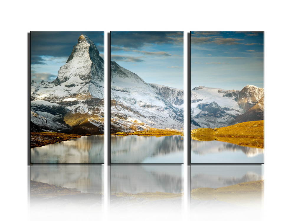 3 panels Hot Sell Snow mountain Modern Home Wall Decor painting Canvas printing Art HD print Painting(China (Mainland))
