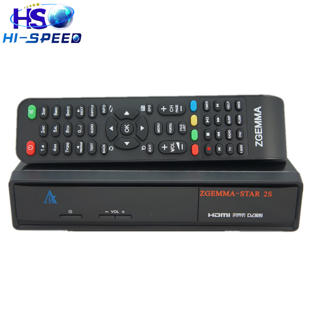 2PCS Zgemma star 2S Two DVB-S2 Tuner Original ZGEMMA-STAR 2S Digital Satellite TV Receiver Enigma2 Linux box free shipping(China (Mainland))