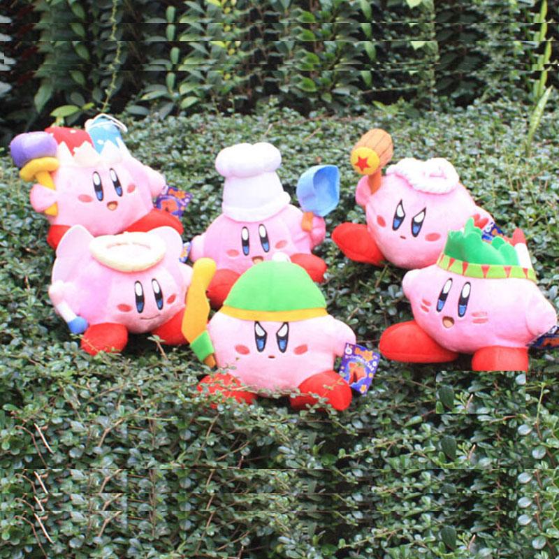 New 1 PCS Super Mario STAR Kirby Keychains Popopo Pendant Key Ring 6 Styles 13-20cm Plush Doll Kids Gift Free Track Code(China (Mainland))