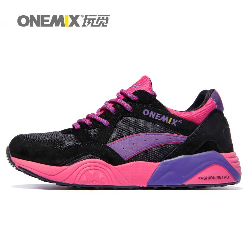 Free Shipping Woman Running Shoes For Women Nice Retro Run Athletic Trainers Purple Zapatillas Sports Shoe Walking Sneakers
