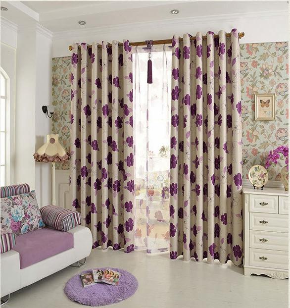 Aliexpress Com Buy Children Room Divider Kitchen Door Curtains Pastoral Floral Window: Popular Purple Window Panels-Buy Cheap Purple Window