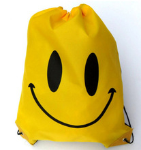 Face Drawstring Bag Mochila Swimming Bags School bags For Girls And Boys Cartoon Kids Backpack waterproof(China (Mainland))