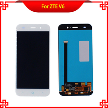 """5"""" LCD White Full Display Touch Screen Digitizer Assembly Replacement For ZTE Blade X7 D6 V6 Z7 Free Shipping Mobile Phone LCDs"""