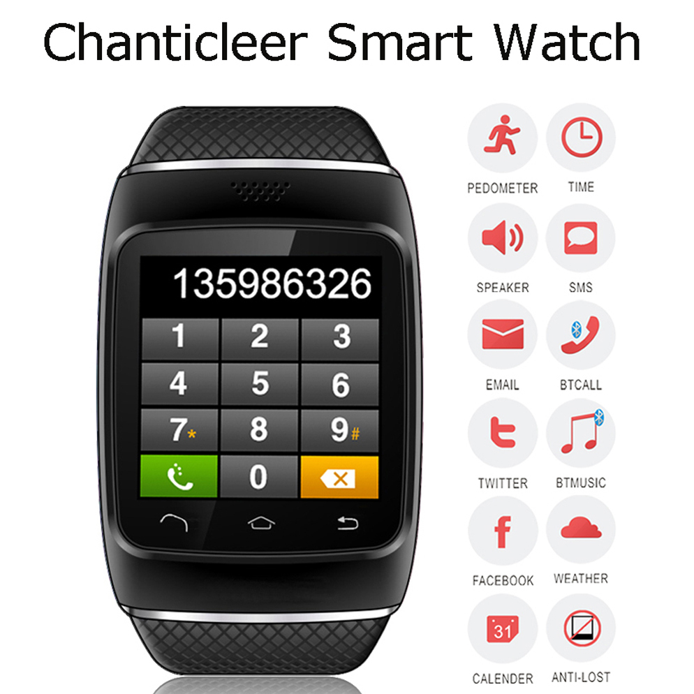 bluetooth android smart watch men samrtwatch zgpax s12 sync sms montre connecter for. Black Bedroom Furniture Sets. Home Design Ideas