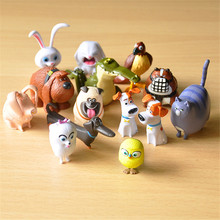 Cute 14pcs/lot The Secret Life of Pets Snowball Gidget Mel Max Duke Dogs Cats Rabbit PVC Action Figure Toys Juguetes Decoration(China (Mainland))