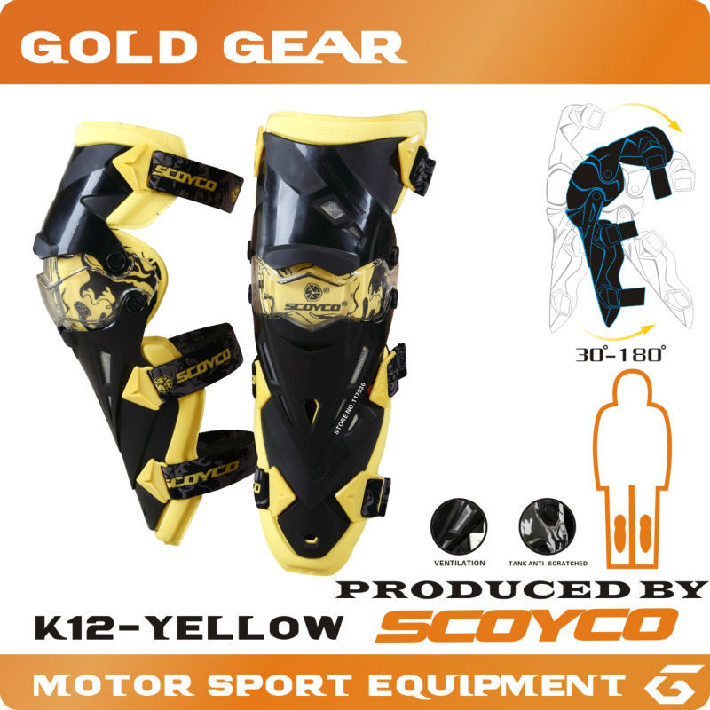Motorcycle Protective kneepad Authentic Motorcycle Knee Protector Motocross Racing Guard Knee Pads Protective Gear Scoyco K12(China (Mainland))