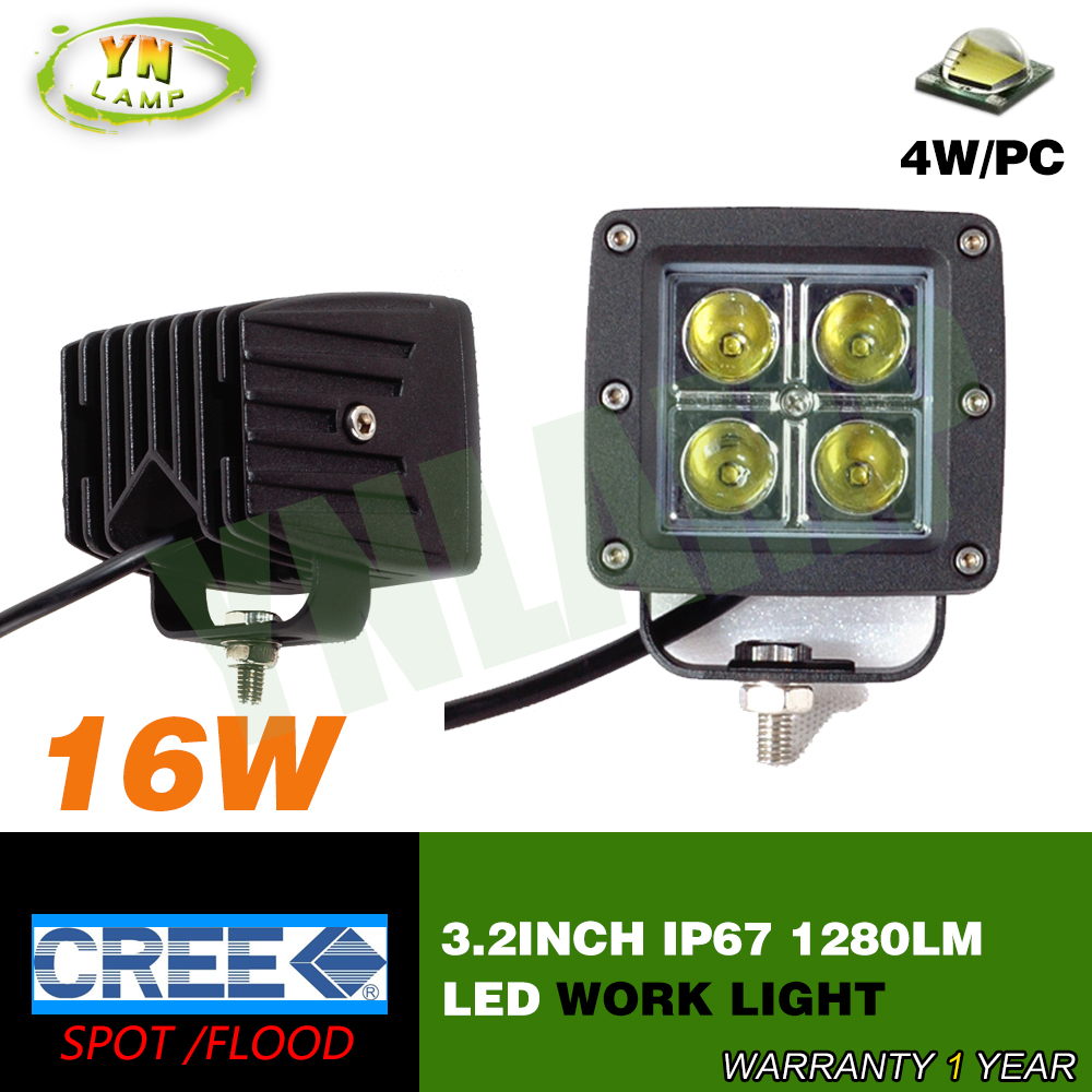 3inch 16W Led work light fog light  spot beam  for offload truck use 4pcs*4W CREE leds IP67 1280LM led driving light<br><br>Aliexpress