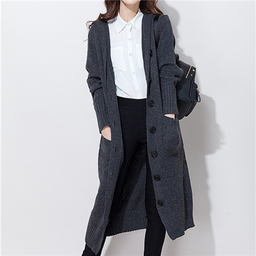Brand Sweater Coat With Pockets Knitted Cardigan For Women Pocho Tricot Long Cardigan Hooded Knitting Casual Long Sweater #Q36(China (Mainland))