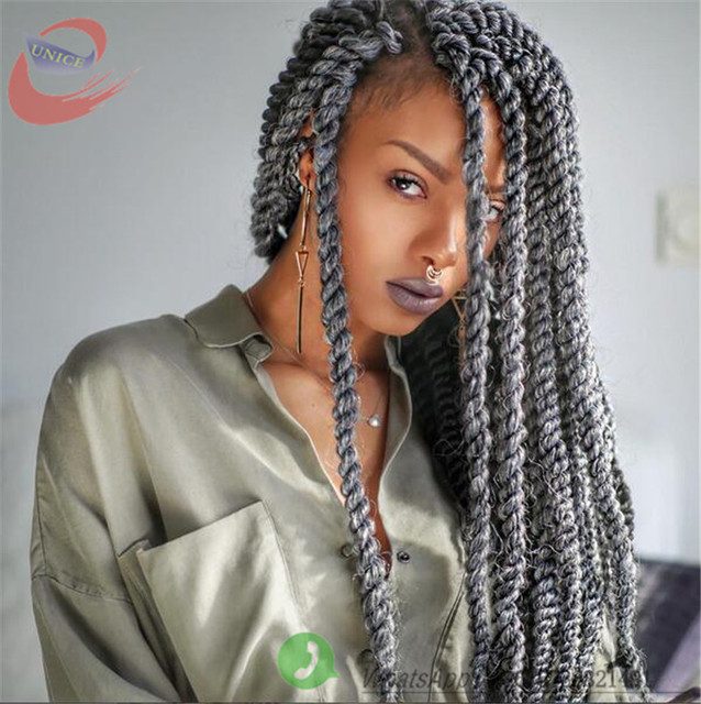 Grey Crochet Hair Styles : Crochet Braids Gray Hair - Braids