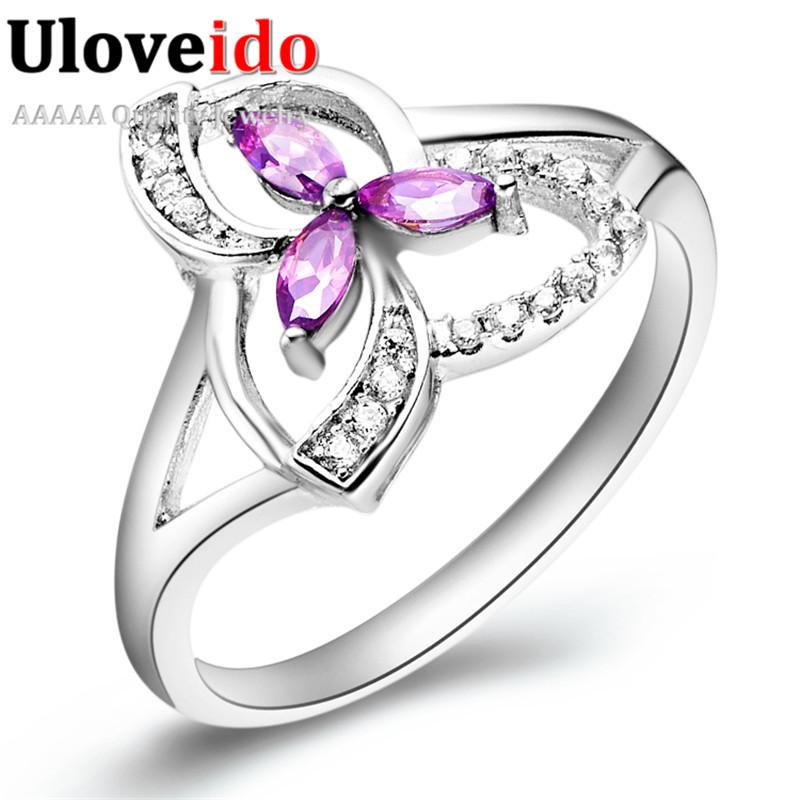 Aliexpress Buy Silver Wedding Rings for Women Simulated Diamond Jewelry