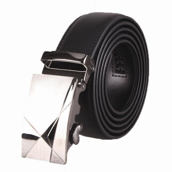 Hot Fashion Brand Automatic Belt Men's Leather Waist Belt Buckles Metal Black Brown Strap All-match(China (Mainland))