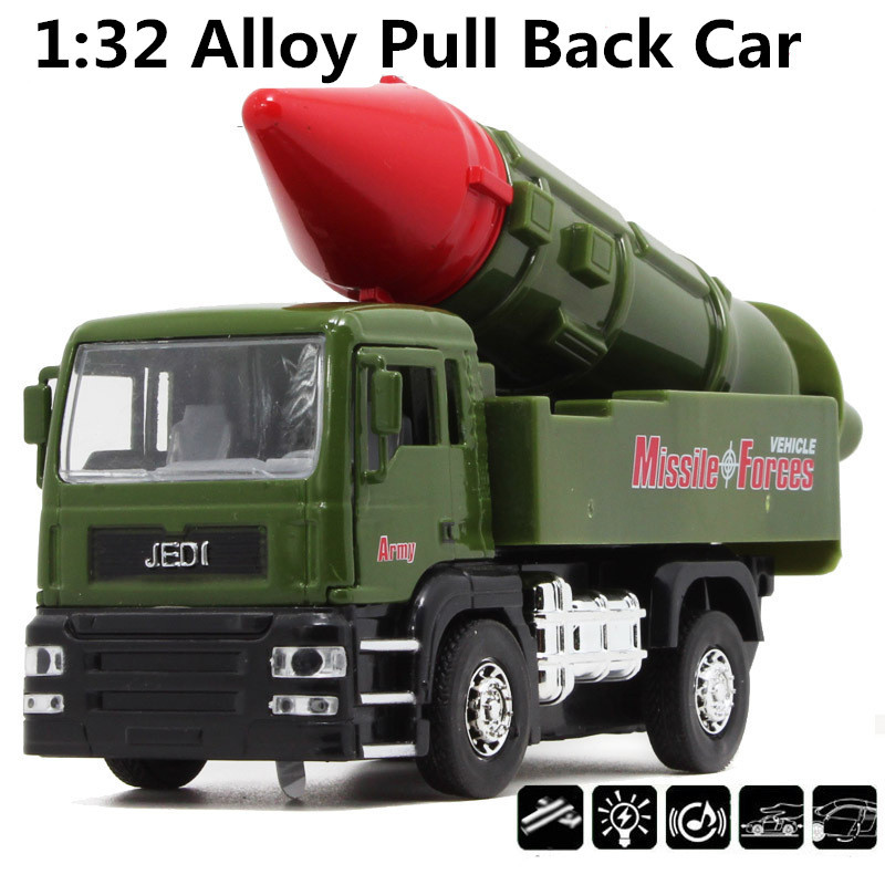 Anti-ship missiles car,1:32 alloy Military trucks,Diecast Metal Military Missile Model,Pull back cars, Alloy car,free shipping(China (Mainland))
