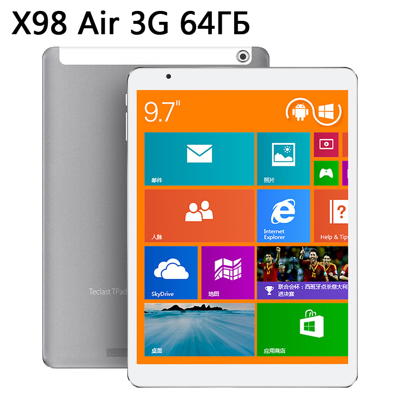 "9.7"" Teclast X98 Air 3G Dual Boot 64GB Intel Z3736F Quad Core Tablet PC 2048x1536 IPS Screen 2GB RAM Phone Call GPS HDMI(China (Mainland))"