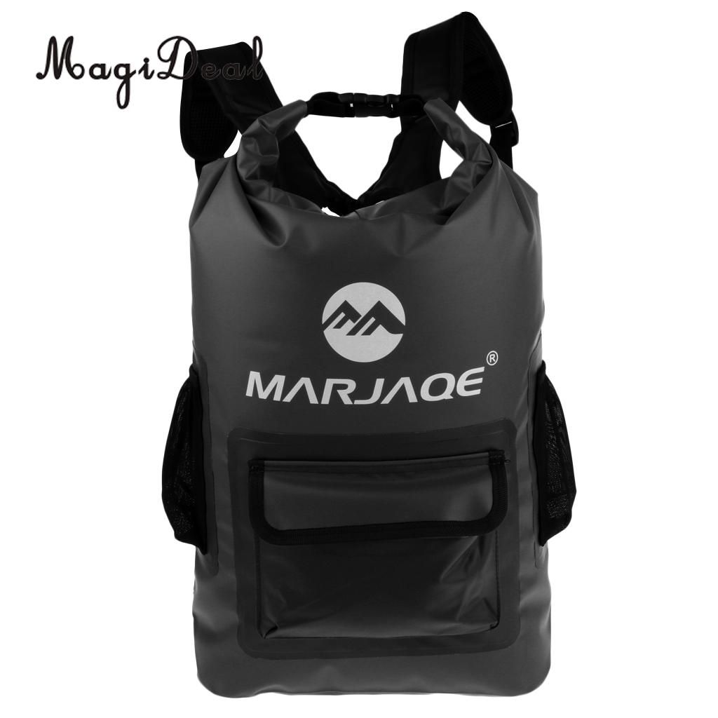MagiDeal 22L Waterproof Dry Backpack Rucksack Kayak Canoe Boat Surfing Bag for Kayaking Boating Canoeing Surfing Fishing Camping