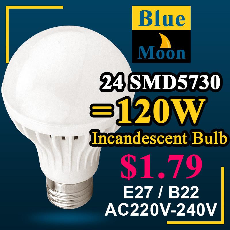 Led Lamp 3W 5W 7W 9W 12W 15W 18W E27 B22 E14 Led Bulb 5730 smd Led Light Lamps Cold Warm White Led Spot light bulb Free Shipping(China (Mainland))