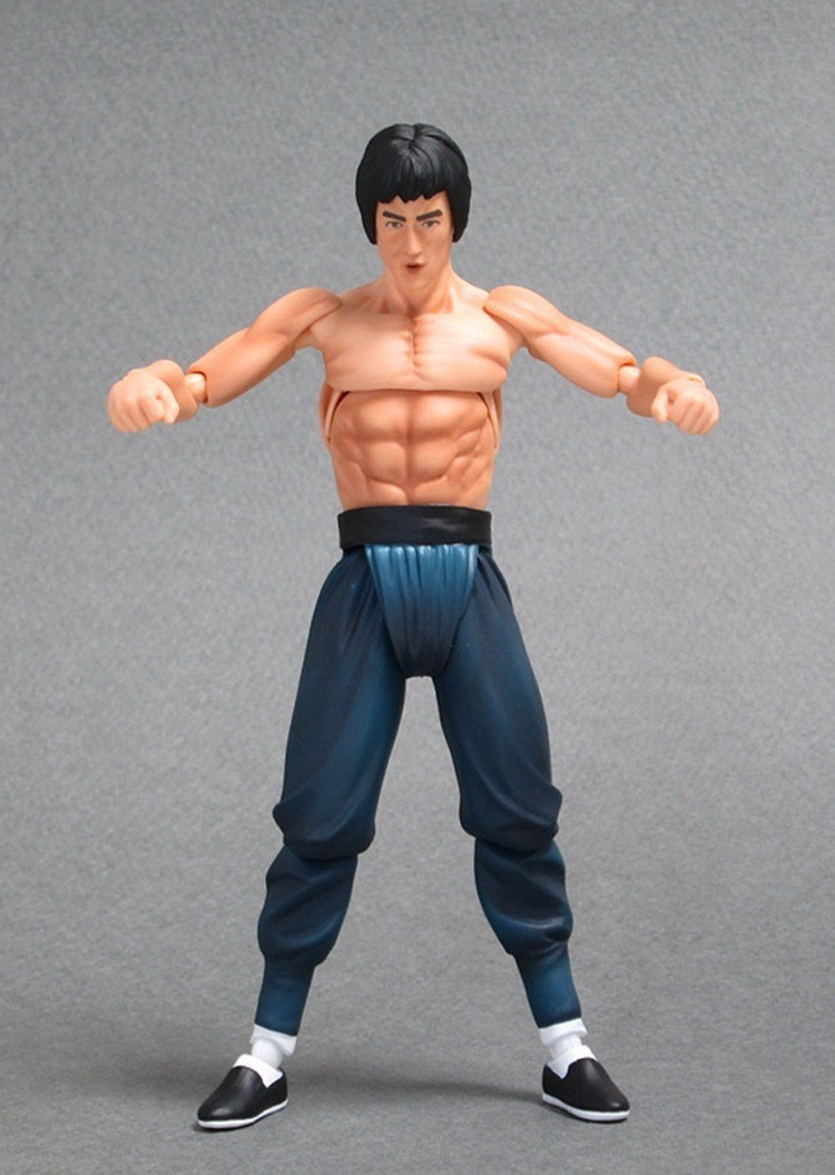 Figma 266# 14cm Bruce Lee PVC Action Figure Collectible Model Toy New Loose