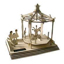 Scale models solar wooden diy toys for baby kids juguetes miniatura diy solar powered dancing toys kit gadget juguetes solares(China (Mainland))
