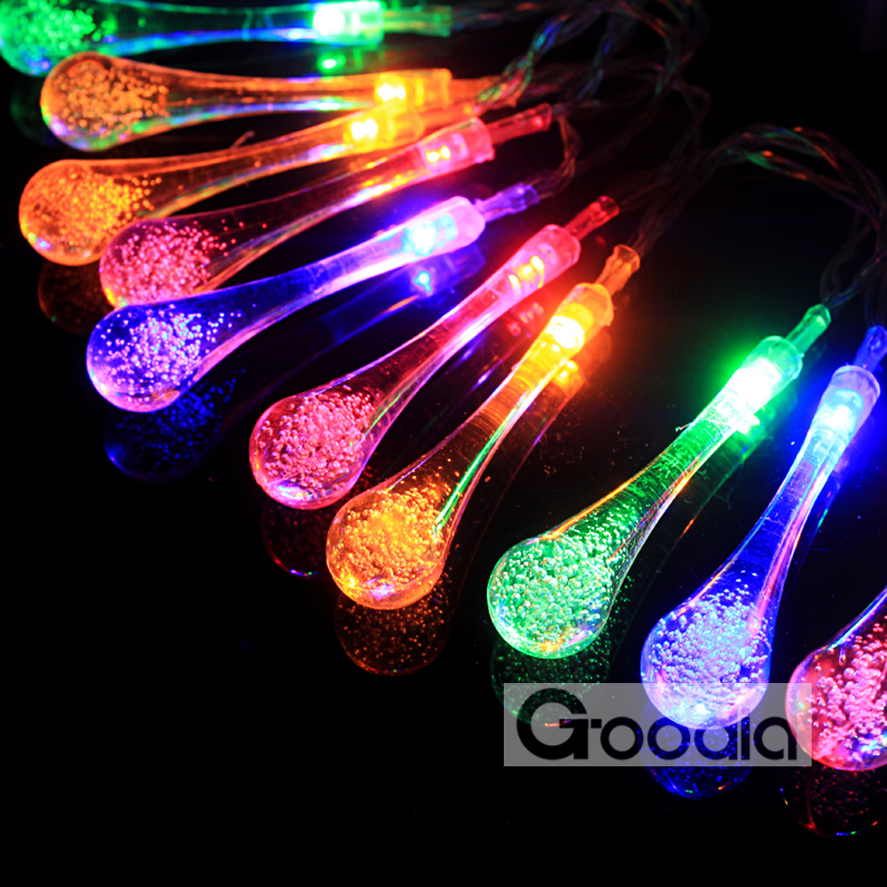 4.8 Meter Set of 20led Mixed Color Solar String Light / LED Garden Fairy Lights / Waterproof Decorative Lights(China (Mainland))
