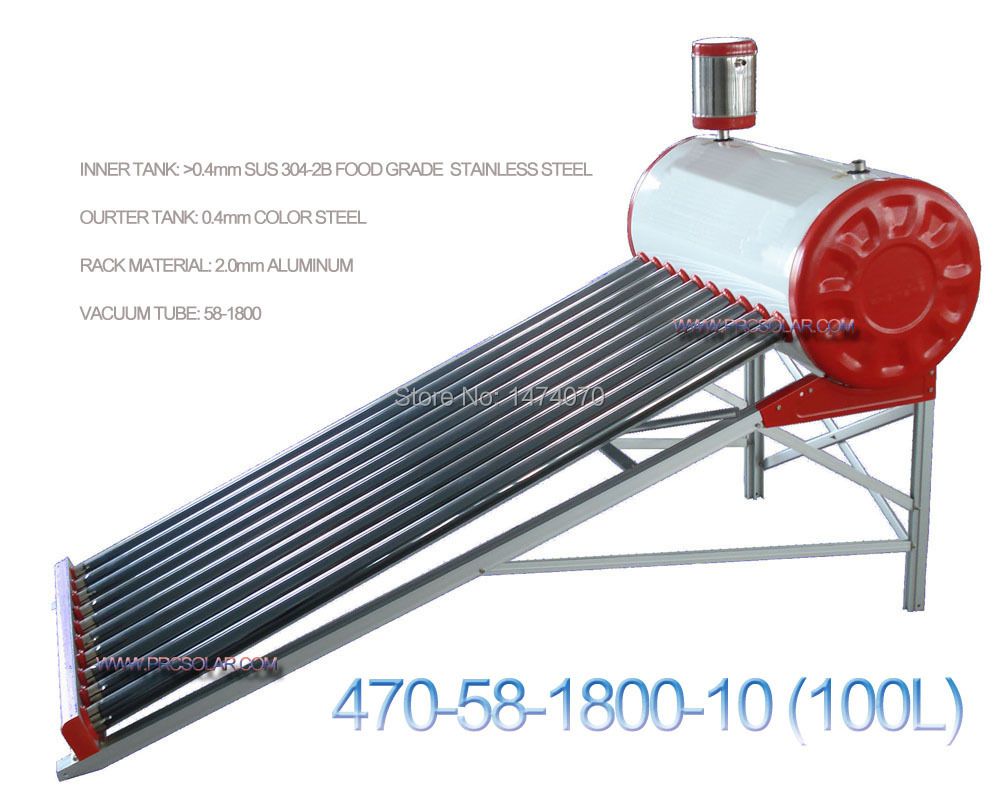 non-pressurized home use vacuum tube solar water heater (470-58-1800-10)(China (Mainland))