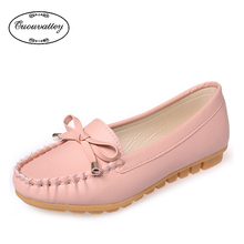 New Fashion Women Casual Shoes Loafers Slip-on Ballet women Flats Comfort Bow shoes woman moccasins sapatilhas femininos