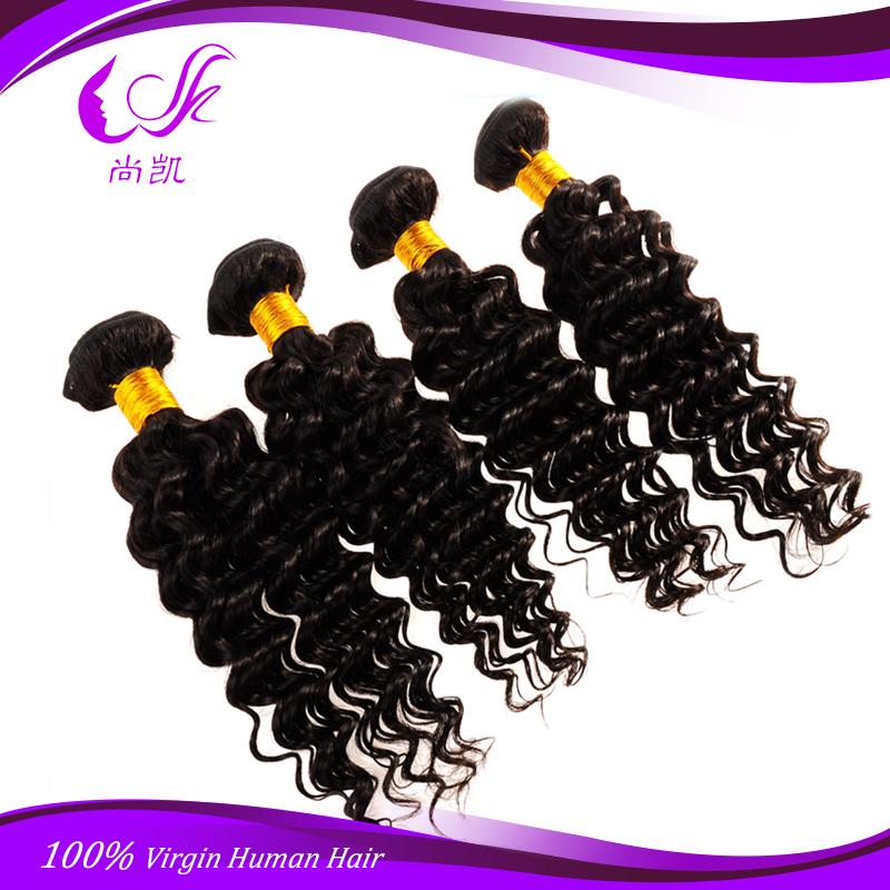 Sale Malaysian Deep Wave Virgin Hair Beauty Forever Cheap Unprocessed 7A Virgin Human Hair Weave Bundles Malaysian Virgin Hair(China (Mainland))