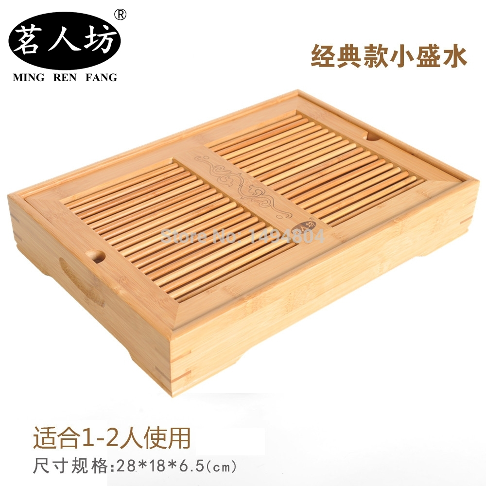 Tea Tray High Quality Kung Fu Tea Tray Water Storage Drawer Type Drainage Bamboo Tea Set