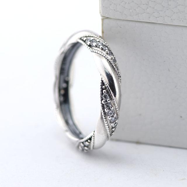 Лента любви кольца ясно CZ обручальные кольца для женщин DIY мода аксессуары и украшения 925 кольцо святого валентина подарок оптовая продажа