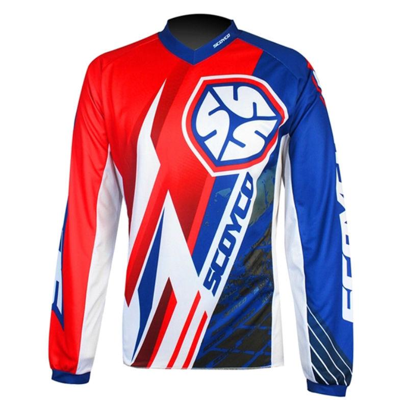Protective Gears Shirts Tops Scoyco T203 Motocross Jersey Racing Moto Training T-shirt Bike MTB Cycling ATV MX Race motorcyle
