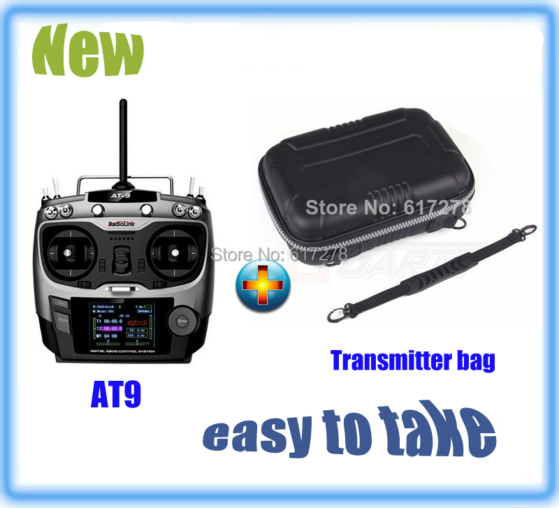 Newest Radiolink 2.4G AT9 Radio Control System 9CH Transmitter &amp; Receiver TX + Transmitter Bag Easy to Take Low Shipping 2015<br><br>Aliexpress