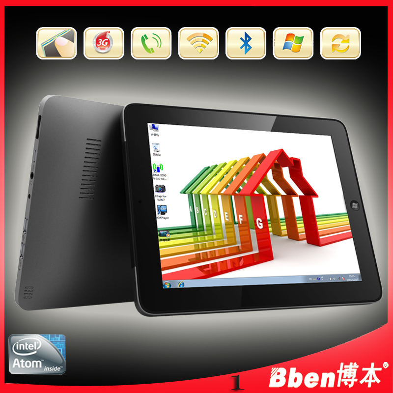 Original 9.7 inch C97 Tablet pc Windows 7 Dual Core Dual camera Built in 3G laptop notebook tablet tablet-pc(China (Mainland))
