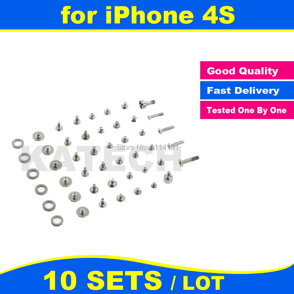FREE SHIPPING X 10 SET LOT for iPhone 4S Screws Full Set Replacement
