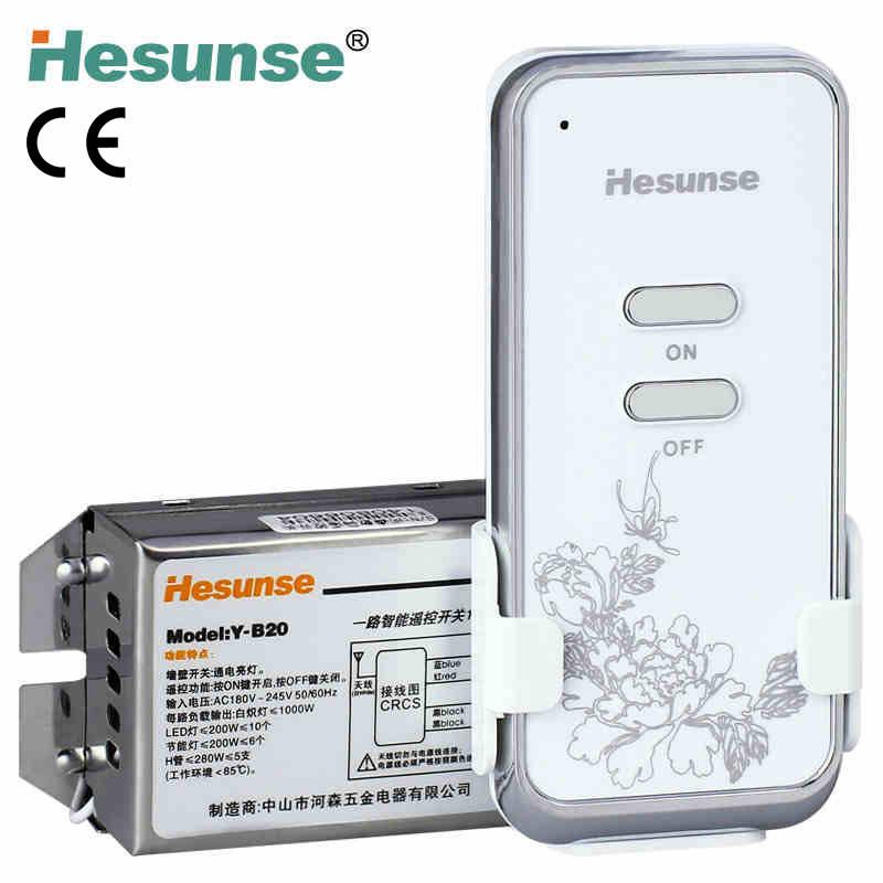 Гаджет  Y-B20  220V One Ways Wireless RF Remote Control  Switch For Light  + Anti-thief Function None Электротехническое оборудование и материалы
